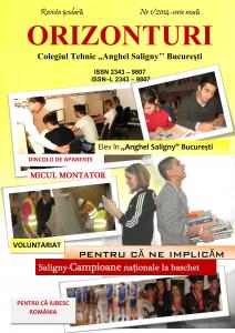 Revista Colegiului Tehnic Anghel Saligny - Bucuresti